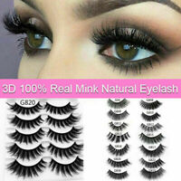 10 Pairs 3D Natural Fake Eyelashes Long Thick Mixed False Eye Lashes Makeup Mink