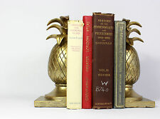 Gold Pineapple Book End,Vintage Replica,Hollywood Regency, Tropical Living Room