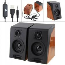 6w Portable USB Multimedia Stereo Speakers System For PC Laptop Computer Desktop