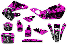 Honda CR125 98-99 CR250 97-99 Dirt Bike Graphic Kit Decal Sticker Wrap REAP PINK