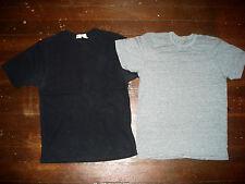 Mens T-Shirt Lot Merona Muscle Black, Super Thin 50/50 Heather Gray Vintage S