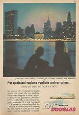 W1508 Compagnia aerea DOUGLAS - Pubblicità del 1956 - Vintage advertising