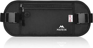 Matein Travel Money Belt Bag RFID Security Wallet Anti-Theft Pocket Waist Pack
