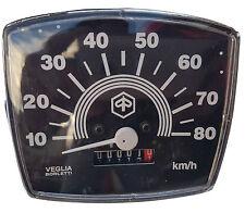 VESPA Velocímetro Cuadrado Pequeño Marco V50 especial 0-80KM Nuevo Negro km por hora