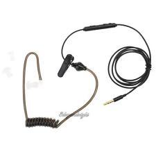 3.5mm Air Tube Headset Anti-radiation Stereo Earphone for iPhone Black NIGH