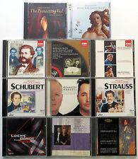 Lot of 11 CLASSICAL CDs VARIOUS LABELS SCHUBERT Korngold STRAUSS Harrell #CD31