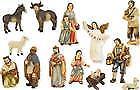 Krippen Bauern Krippenfiguren Set 13teilig in Größe ca.12cm