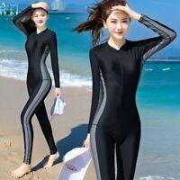 Women Surf Swim Stinger Suit Dive Skin Full Body Cover Sun Protection Swimwear