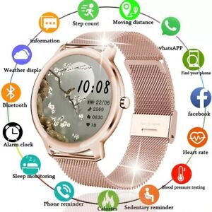 New Smart Watch Women Physiological Heart Rate Blood Pressure Monitor Waterproof
