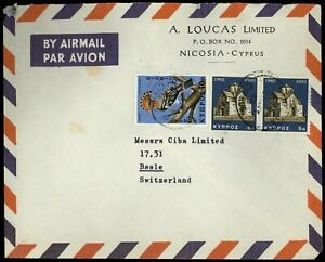 Cyprus 1969 Airmail Cover To Switzerland #C57789