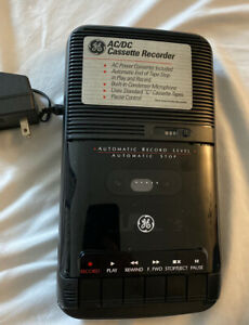 General Electric Cassette Tape Recorder Model 3-5025A DC/AC