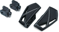 Kuryakyn Gloss Black Phantom Mini Floorboards Front Adapters Honda Fury Models