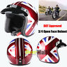 T50 Torc 3/4 Open Face Motorcycle Scooter Helmet DOT Cafe Racer Retro Vintage US