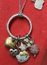 kimora lee simmons hello kitty Charm Necklace White Gold Chain Diamonds