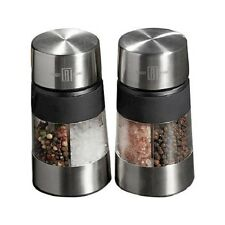 Robert Irvine 3 in 1 Spice Mill Grinder Duo Silver Set of 2 Stainless Steel