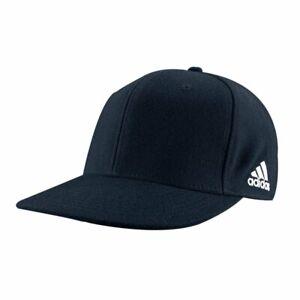 adidas Adult Flex Flat Bill Cap - Navy - Various Sizes