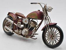 Hand Made Harley Davidson Chopper Motorcycle 1:08 Scale Tin Plate Metal Figurine