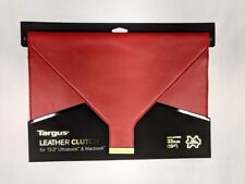LEATHER case Targus TES607EU for 13 Apple Ultrabook & Macbook Clutch Red RRP49