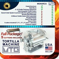MTG Tortilla Machine - Roller & Crank Full PK 5 Different Cutters Included