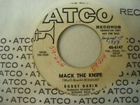BOBBY DARIN - Mack The Knife / Was There A Call For Me promo 45