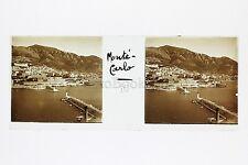 Monaco Monte-Carlo Casino Plaque stéréo Vintage vers 1910