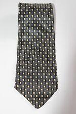 Monterey Bay J. Blades & Co. Mens Neck Tie 100% Silk Black Silver Gold Geometric