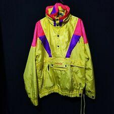 VTG 90s NEVICO Survival Ski Snowboard Jacket Hood Pull Over Color Block Size 40