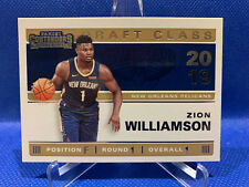 Zion Williamson 2019-20 Panini Contenders Draft Class #1 - New Orleans Pelicans