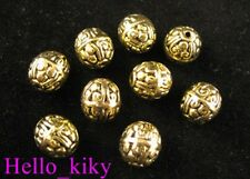 30Pcs Antiqued gold plt motif crafted spacer beads A216