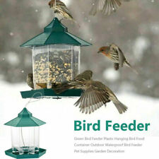 Plastic Waterproof Hanging Wild Bird Feeder Feeding Garden Yard Outdoor Decors