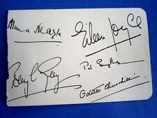 More details for vintage group (5) famous women autographs/odette churchill anna neagle etc..