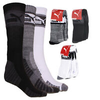 Puma Men's 3-Pack 1/2 Terry Crew Socks