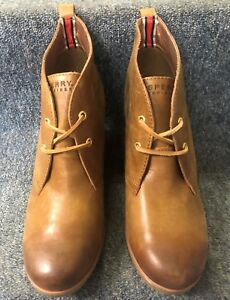 Sperry Women's Harlow Cognac Ankle Boot-NEW W/ BOX!! FREE SHIPPING!!!