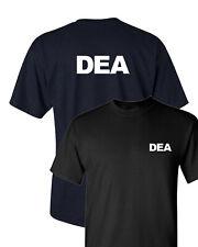 DEA Drug Enforcement Administration T-Shirt - Two Sides Print