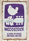 home accent stores plaque Woodstock concert poster 1969 metal tin sign