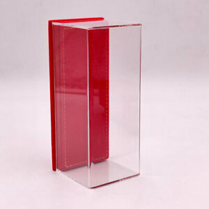 1/43 Thicken Acrylic Case Models Display Boxes Transparent Red Flannel Base 17cm
