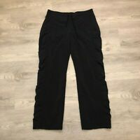 Athleta Womens Black Athletic Casual Straight Pants Zipper Pockets Size 12