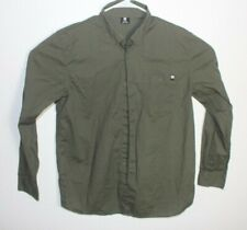 DC SHOE CO Men's Button Up Green Shirt Size L
