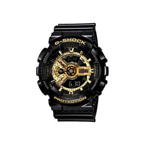 NEW CASIO G-SHOCK MENS BLACK GOLD SPORTS WATCH - GA-110GB-1AER BOYFRIEND GIFT UK