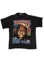 Vintage VTG 90s Notorious BIG Biggie Rap Bootleg Black T-Shirt