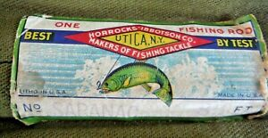 VTG Horrocks-Ibbotson SARANAC 8.5' 3 pc Fly Rod w extra Tip Fabric Metal Cases