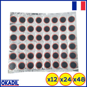 Rustines Rondes 25 mm Crevaison Chambre à Air Vélo 12 I 24 I 48 Pièces
