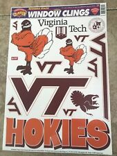 Virginia Tech Hokies Car Window Clings Decal Va Tech Champion Series VT College