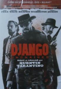 DVD + BLU RAY - DJANGO UNCHAINED / TARANTINO, FOXX, DI CAPRIO, WALTZ, SONY, NEUF