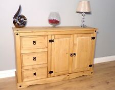 Corona Low 2 Door 3 Drawer Sideboard Solid Mexican Pine by Mercers Furniture®
