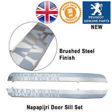 Peugeot 308 Door Sill surrounds Protector Kick Plate Pair Napapijri New Genuine
