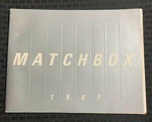 1987 MATCHBOX Diecast Catalog VG+ 4.5 Full Color 80pgs