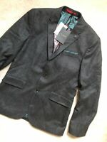 "TED BAKER CHARCOAL GREY ""EDESON"" WOOL BLEND BLAZER JACKET COAT - M 3 - NEW TAGS"