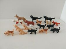 Geobra Playmobil Figures Parts Lot of 17 Pets Dogs and 1 Fox