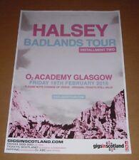 Halsey - rare tour concert / gig poster - feb 2016 badlands tour